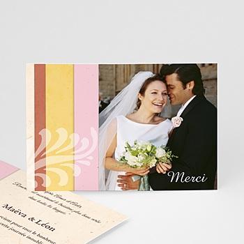 Remerciements mariage personnalisés feuille d'acanthe