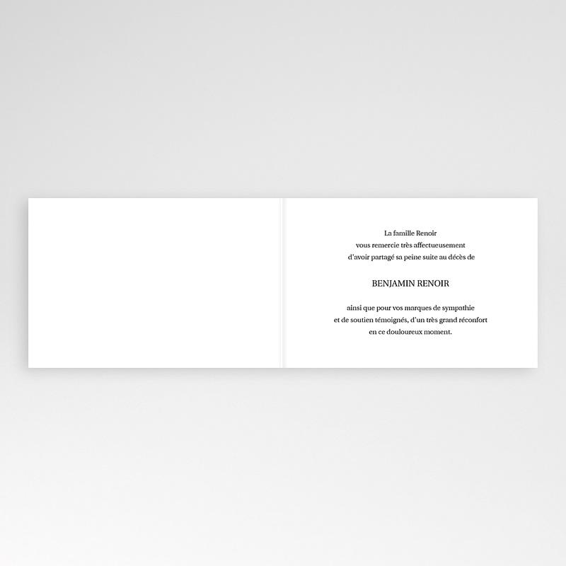 Carte Remerciement Décès Universel Condoléance - Fond Noir pas cher