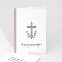 Faire-Part Décès Chrétien Croix et épis de blés parmes