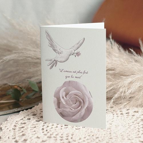 Remerciements Décès Universel - L' Amour envolé  16454