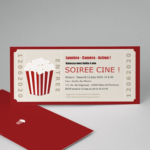 Invitation Anniversaire Adulte - Ticket cinéma 1646 thumb