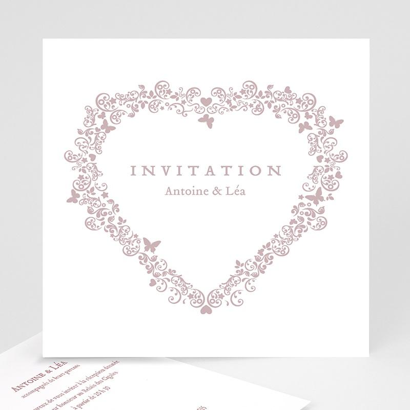 Carton Invitation Personnalisé Romantico