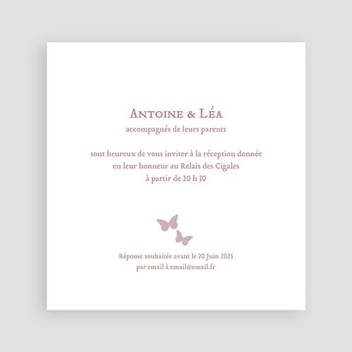 Carton Invitation Personnalisé Romantico pas cher