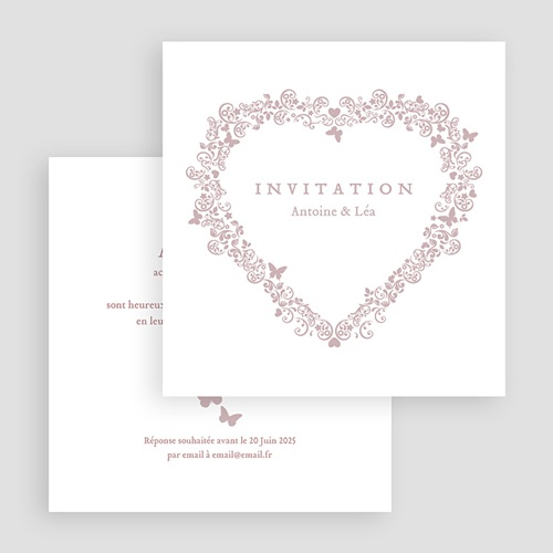 Carton Invitation Personnalisé Romantico gratuit