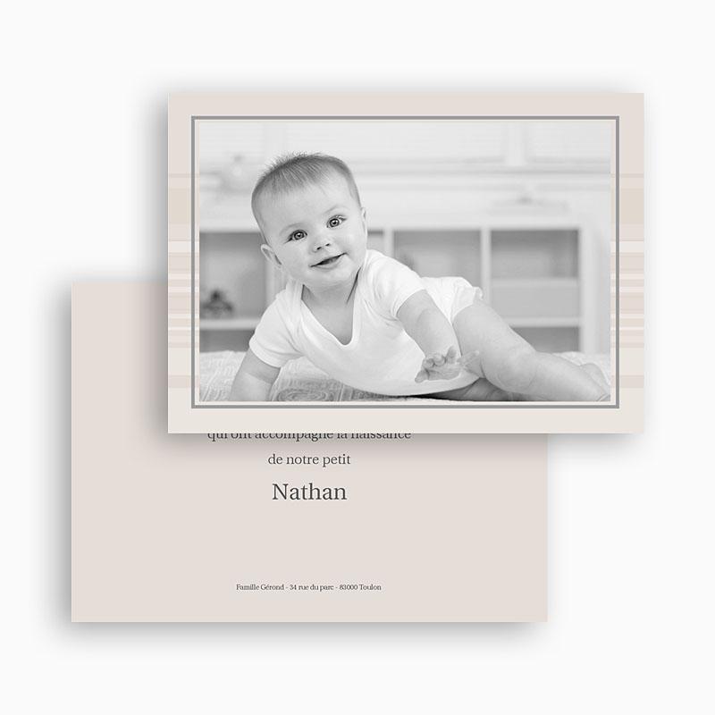 Carte Remerciement Naissance Garçon Nathan gratuit