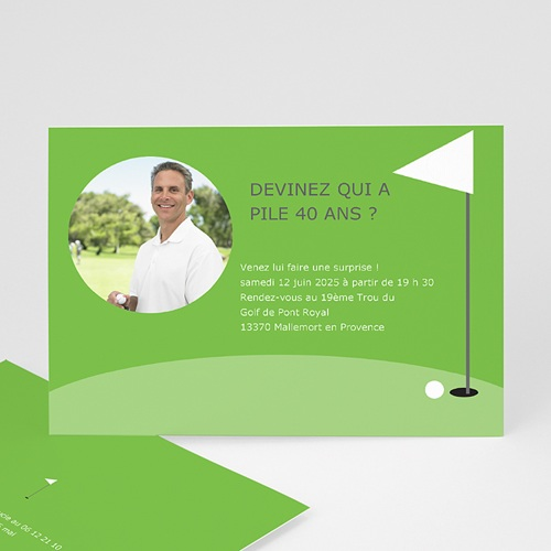 Invitation Anniversaire Adulte - Golfeur 1654 thumb