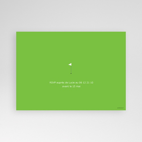 Invitation Anniversaire Adulte - Golfeur 1655 thumb