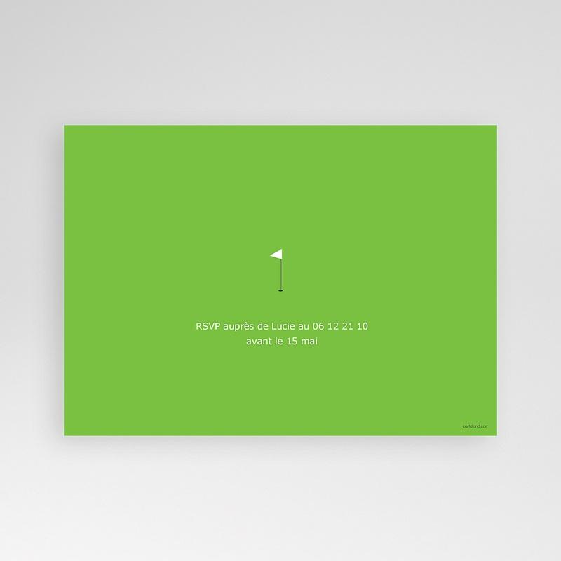 Carte invitation anniversaire adulte Golfeur pas cher
