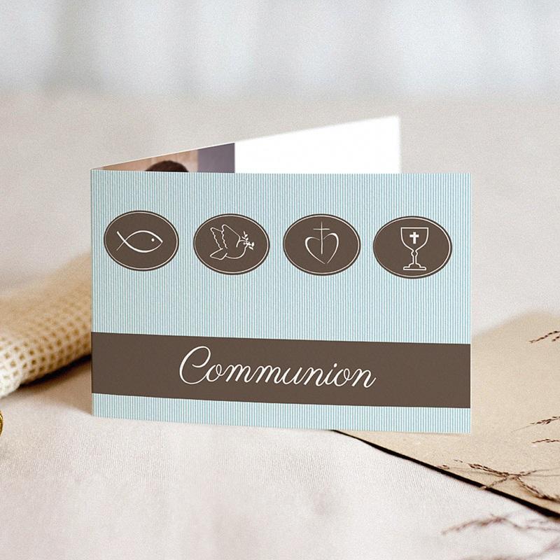 Faire-part Communion Garçon - Communion classique 16610 thumb