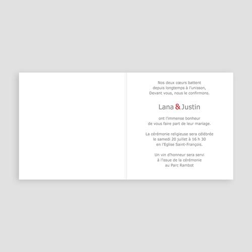 Faire-Part Mariage Personnalisés - Coeur contre Coeur 16626 preview