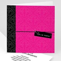 Faire-Part Mariage Personnalisés - Save-the-date - Rose Flashy - 1