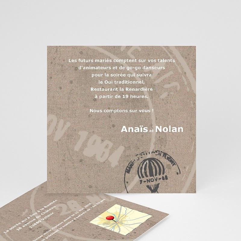 Carton Invitation Personnalisé Passeport pour le Bonheur