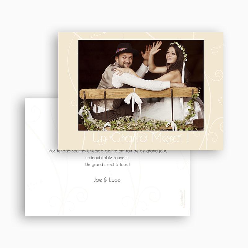 Remerciements Mariage Personnalisés Coeurs Romanesques gratuit