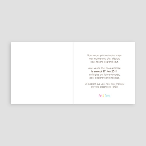 Faire-Part Mariage Personnalisés - Invitation Ascot 16762 thumb