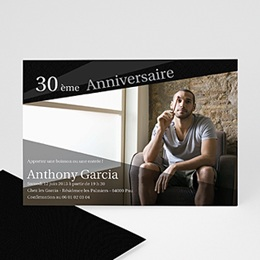 Carte invitation anniversaire adulte Pleins feux