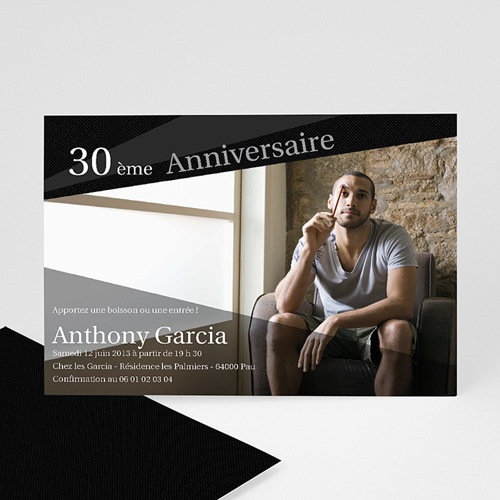 Invitation Anniversaire Adulte - Pleins feux 1696 thumb