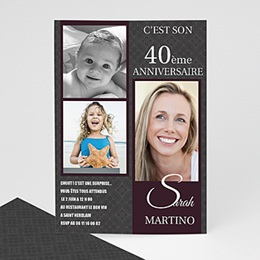 Invitations Anniversaire adulte Star du Jour