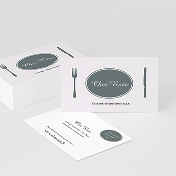 Carte de visite cuisine traditionnelle sur mesure