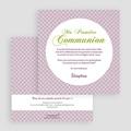 Faire-Part Communion Fille Action de Grâce gratuit