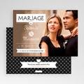 Faire-part mariage Noir et chic gratuit