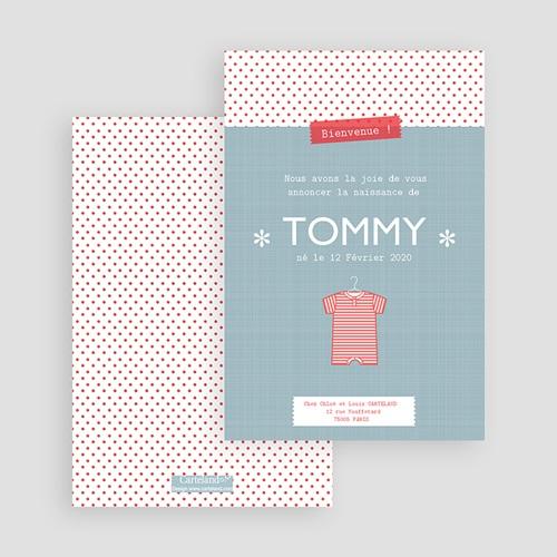Faire-part naissance garçon Tommy gratuit