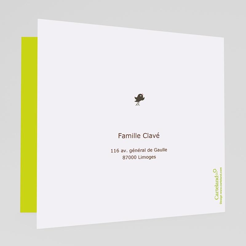 Faire-Part Mariage Vert - Coeurs et balançoire 17222 thumb