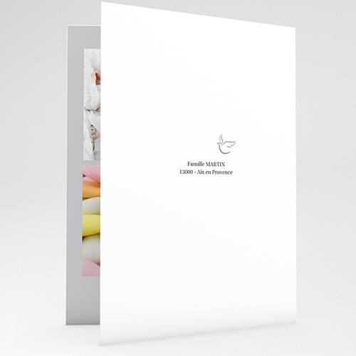 Faire-part Baptême Fille - Typographie 17238 thumb