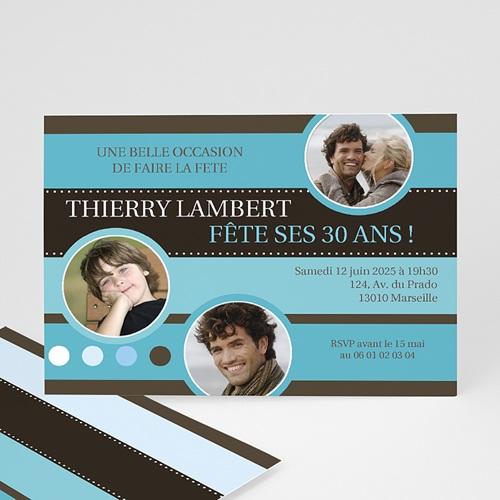 Invitation Anniversaire Adulte - Levez votre verre 1724 thumb