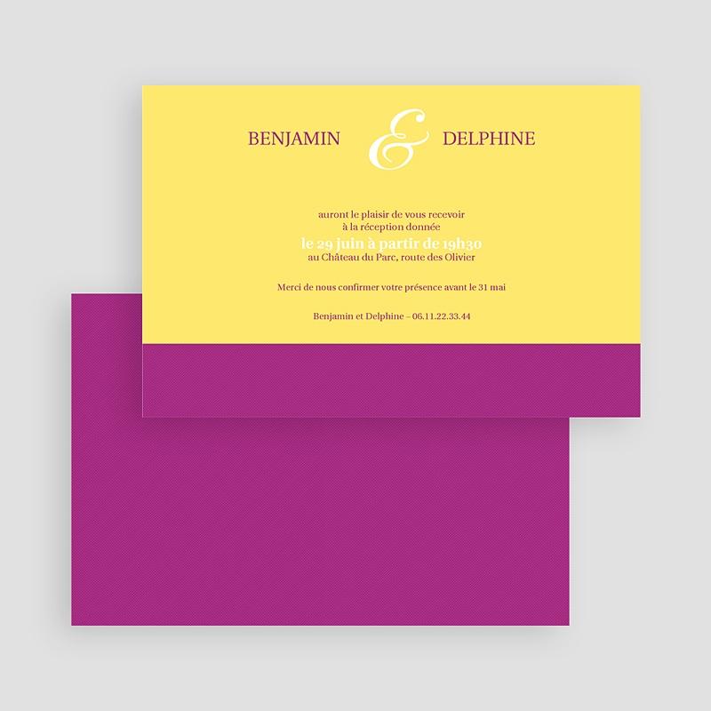 Carton Invitation Personnalisé Mauve d'envie gratuit