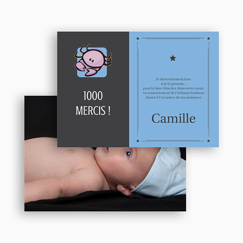 Remerciements Naissance Fille - Cancer 17262 preview