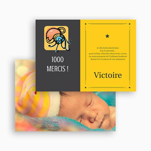 Remerciements Naissance Fille - Verseau 17265 preview