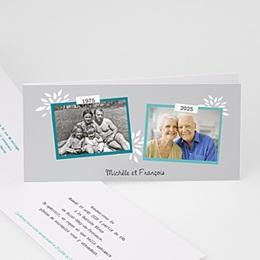 Invitations Anniversaire Mariage - Florilège de souvenirs - 1