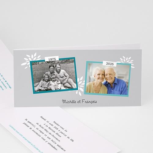 Carte invitation anniversaire mariage Florilège de souvenirs