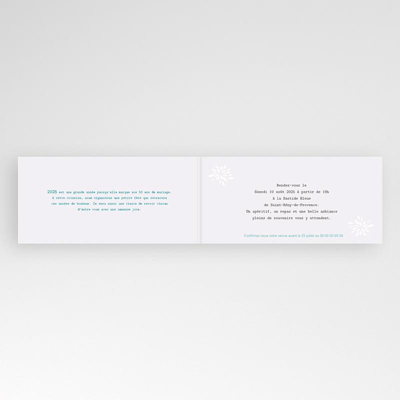 Carte invitation anniversaire mariage Florilège de souvenirs pas cher