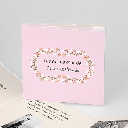 Carte Invitation Anniversaire Mariage Une belle histoire