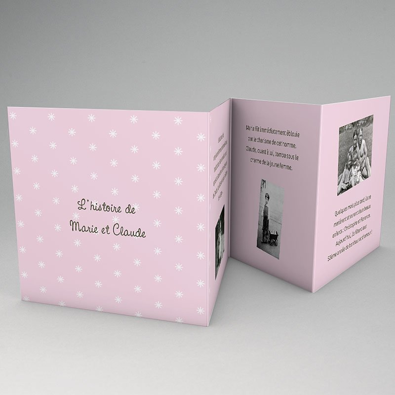 Invitations Anniversaire Mariage - Une belle histoire 17324 thumb