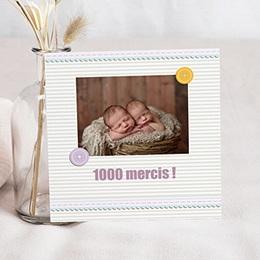 Remerciements Naissance Fille - Jumeaux - Jumelles - 1