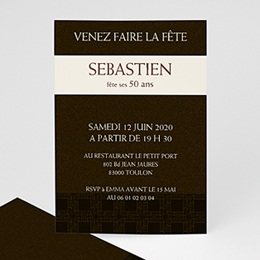 Carte invitation anniversaire adulte Tabac