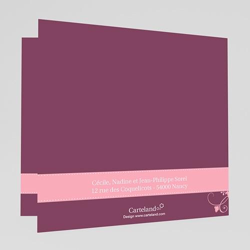 Carte Invitation Confirmation  Mauve, Bandeau Rose gratuit