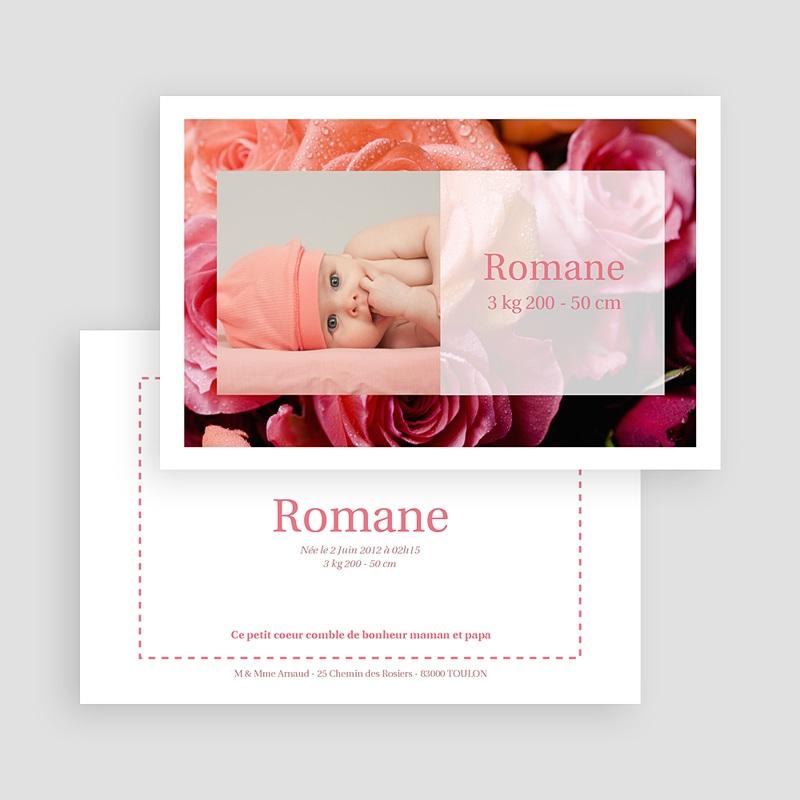 Faire-Part Naissance Fille Rosa, rosa, rosam gratuit