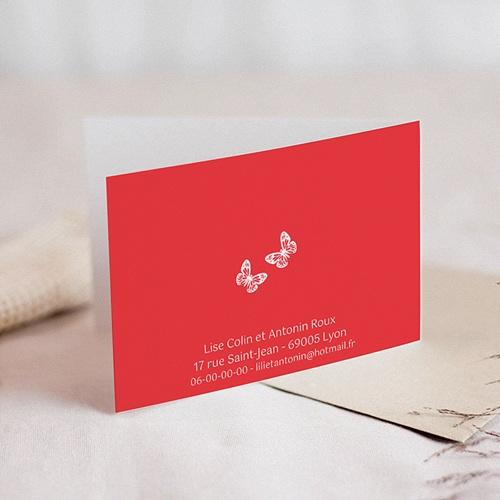 Faire-Part Mariage Fleurs d'amour et papillons gratuit