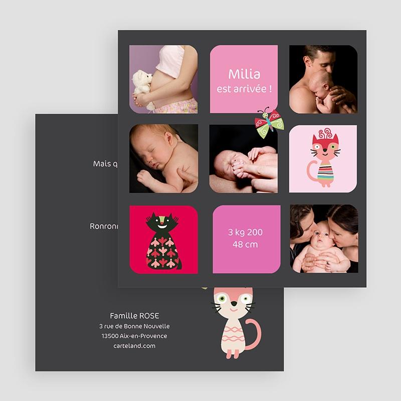 Faire-part naissance fille Naissance Multiphotos gratuit