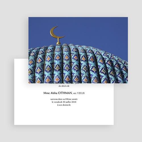 Carte remerciement décès musulman Musulmane gratuit