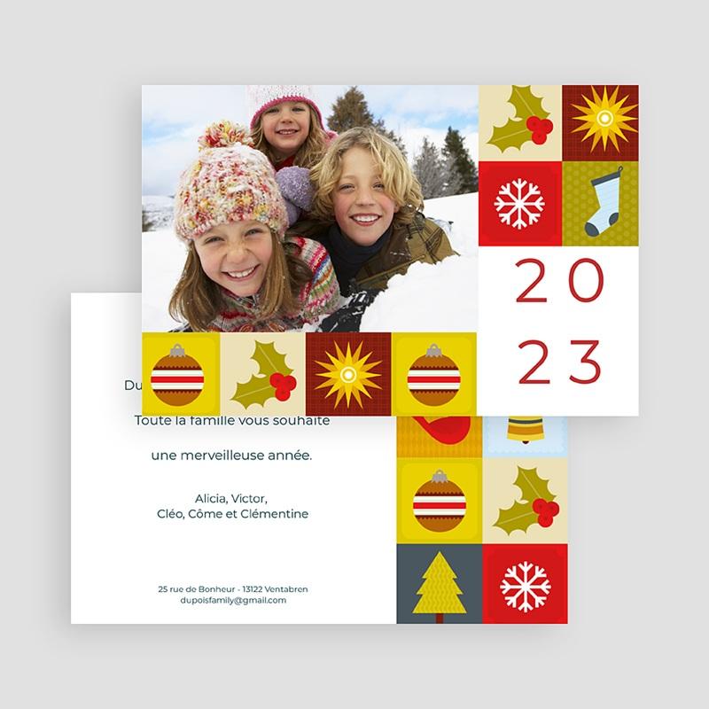 Carte de Voeux Bonne année Mandalas de Noël gratuit