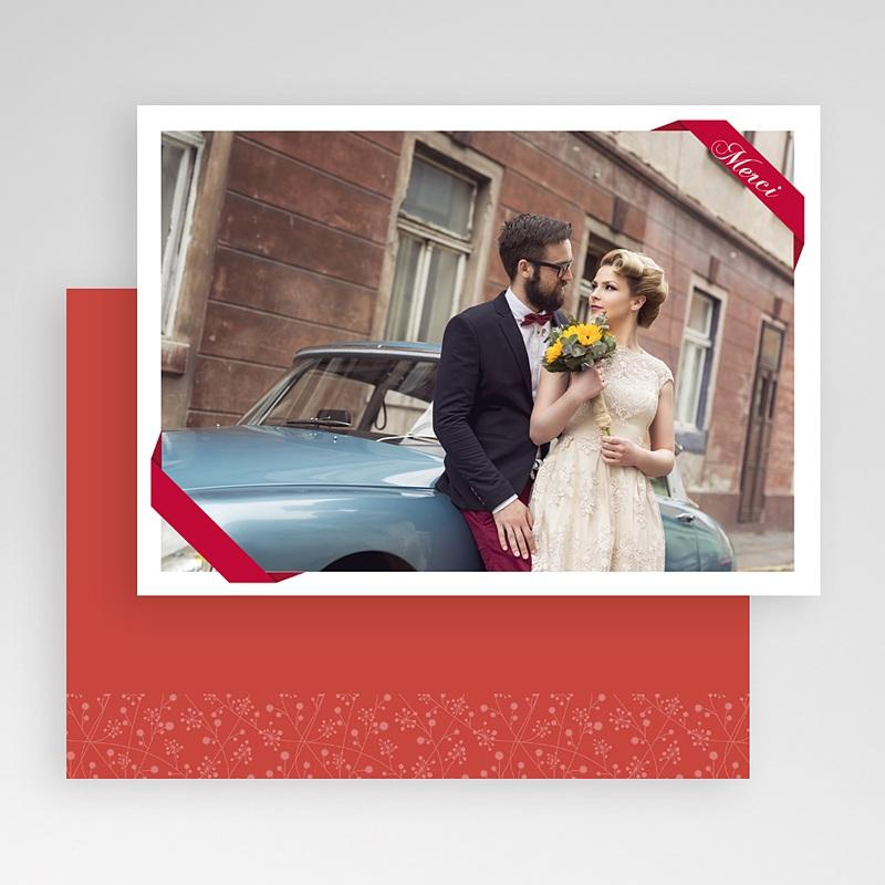 Carte personnalisée 1 photo Ruban rouge gratuit
