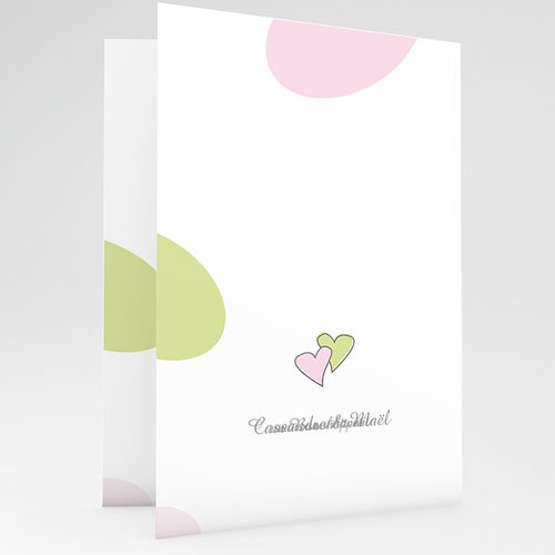 Menu Mariage Personnalisé Tendrement Pastel gratuit
