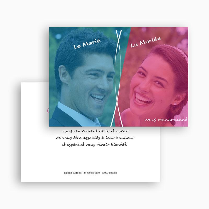 Remerciements Mariage Personnalisés Chouchou et Loulou gratuit