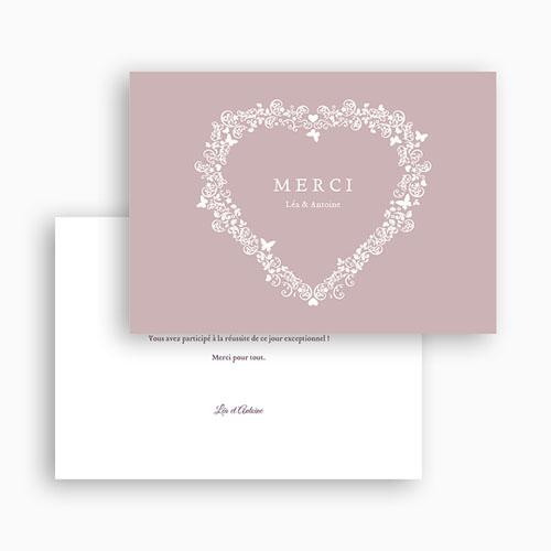 Remerciements Mariage Personnalisés Vintage Romance, merci gratuit