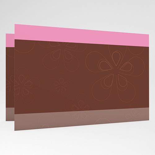 Faire-Part Naissance Fille - Une Rose en Chocolat 17763 preview