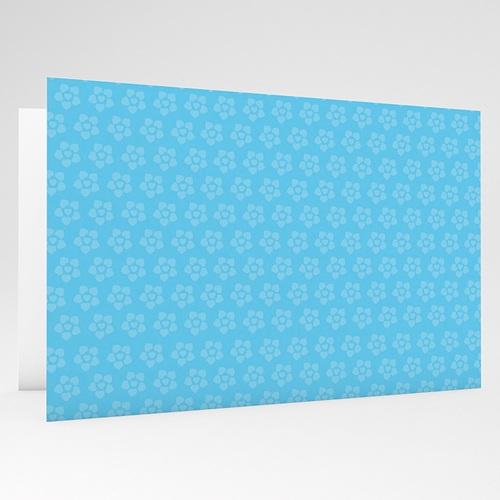 Faire-Part Naissance Garçon - Imprimé fleuri bleu 17766 preview